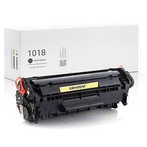 Картридж совместимый HP LaserJet 1018, чёрный, ресурс 2.000 копий, аналог от Gravitone (GTH-LJ-1018-BK)