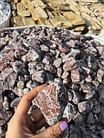 Камни для ландшафтного дизайна красная декоративная галька RED 4-8 см