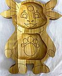 Деревянная менажница детская Лунтик 25х30 см., фото 2