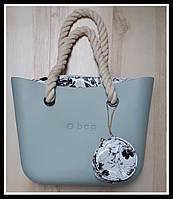Женская сумка O bag classic в серо-голубом цвете lux copy