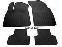 Резиновые автомобильные коврики в салон AUDI Q8 2018 AV2 ауди ку8 Stingray