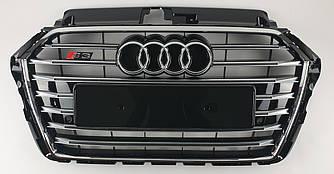 Решетка радиатора Audi A3 8V рестайлинг (2016+) стиль S3