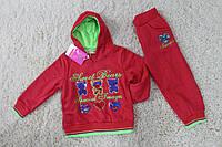 Утепленный костюм с начесом для девочек 1- 5 лет