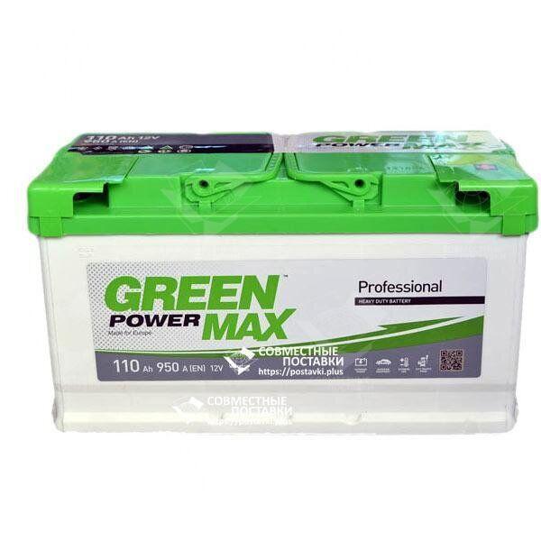Аккумулятор Green Power Max 110 А.З.Е. со стандартными клеммами   R, EN950 (Европа)