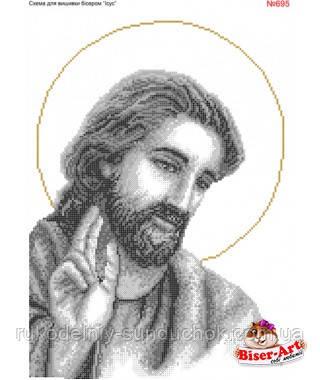 Схема для вишивки бісером Бисер-Арт Ісус (695)