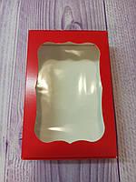 Коробка для пряников с окошком красная, 10* 15 см