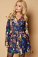 Стильный женский плащ Domenica с яркой модной расцветкой (мульти-колор принт, р.S-XL)