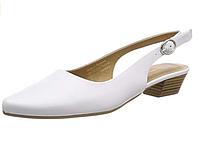 Туфли, балетки с открытой пяткой женские Tamaris, на каблуке. Оригинал. Размер 35