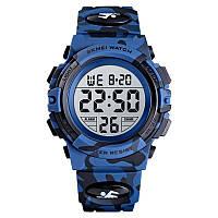 Skmei 1548 kids тёмный синий камуфляж детские спортивные часы
