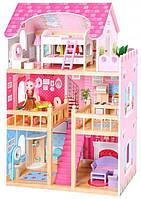 Дитячий ігровий ляльковий будиночок EcoToys 4119 Tima Toys + 2 ляльки для дітей, фото 1