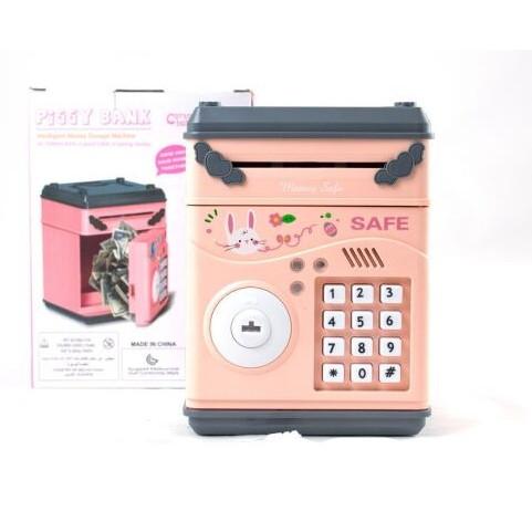 Детский сейф с электронным кодовым замком 778A Розовый