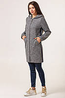 Теплый кардиган  женский модный  42-50 светло-серый