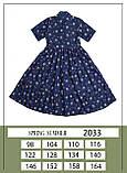 Сукня, принт трояндочка, денім, Моне, р. 152, фото 2