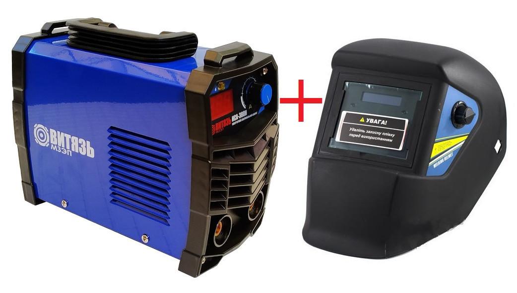 Сварочный аппарат инверторный Витязь ИСА-380 (Дисплей) + Сварочная маска Форте MC-1000 (хамелеон)
