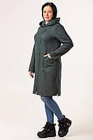 Женский модный кардиган  большого размера  50-58 темно-серый