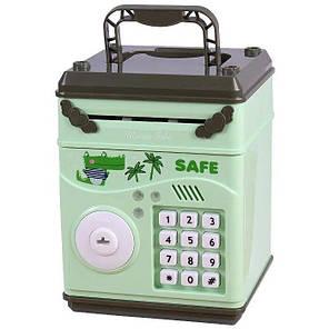 Детский сейф с электронным кодовым замком 778A Зеленый, фото 2