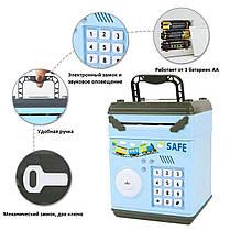 Детский сейф с электронным кодовым замком 778A Зеленый, фото 3