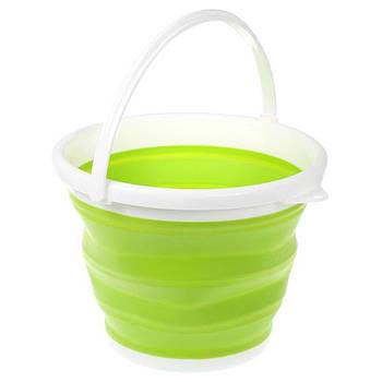 Складное відро Silicon Bucket 10л. Зелене