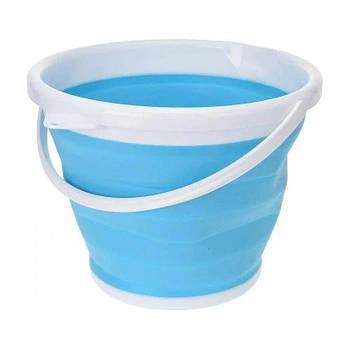 Складное відро Silicon Bucket 10л. Синє