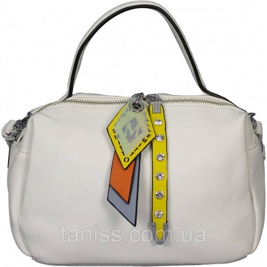 Жіноча,стильна,ділова,невелика сумка, тканина екошкіра,одна коротка ручка,одна довга,два відділення (86629)