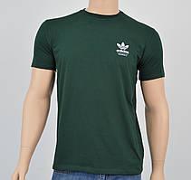 """Мужская футболка """"Премиум"""" Adidas (реплика) бутылочный"""