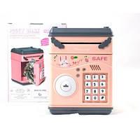 Детский сейф с электронным кодовым замком 778A Розовый, фото 1