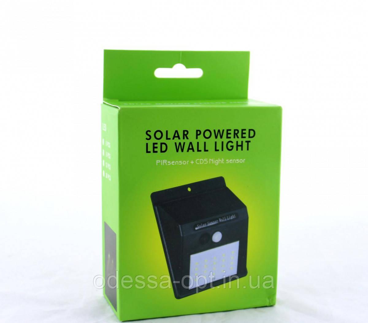 Светодиодный Навесной фонарь с датчиком движения 609 solar 20 диодов на солнечных батареях