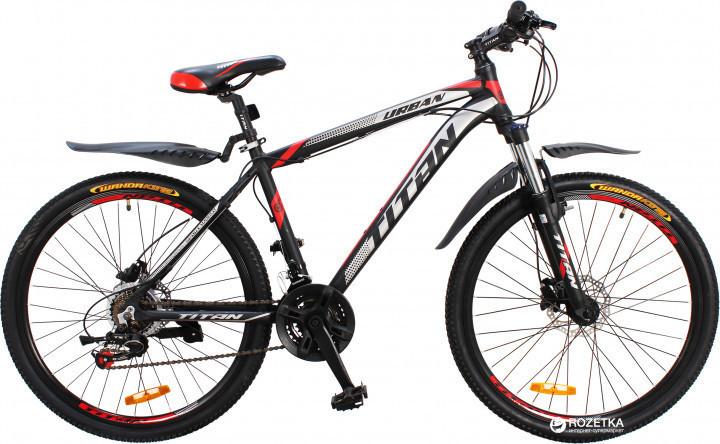 🚲Горный алюминиевый велосипед на гидравлике TITAN URBAN HDD; рама 17; колеса 26