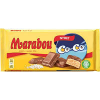 Швейцарский молочный шоколад с кокосом Marabou Co-Co 185 г
