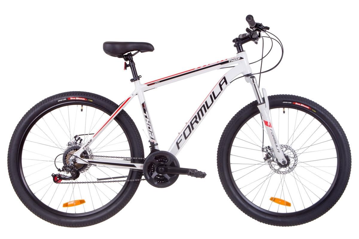 🚲Горный алюминиевый велосипед FORMULA THOR 1.0 DD 2019 (Shimano, 21sp, монобл); рама 19; колеса 27,5