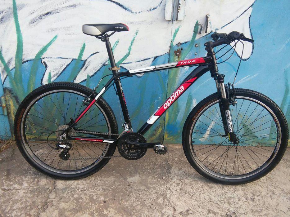 🚲Горный алюминиевый велосипед OPTIMA THOR (24 speed, lockout); рама 21; колеса 26