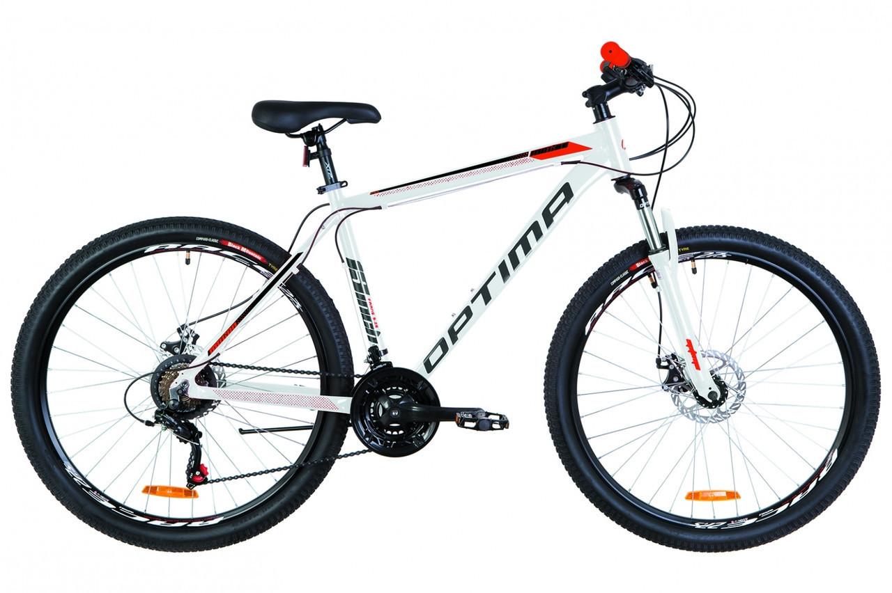 🚲Горный алюминиевый дисковый велосипед OPTIMA MOTION DD 2019; рама 17; колеса 27,5