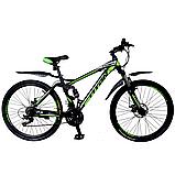 🚲Горный стальной велосипед двухподвесник Titan VIPER (Shimano, моноблок); рама 17; колеса 26, фото 2