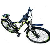 🚲Горный стальной велосипед двухподвесник Titan VIPER (Shimano, моноблок); рама 17; колеса 26, фото 3