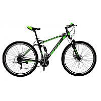 🚲Горный стальной велосипед двухподвесник Titan VIPER (Shimano, моноблок); рама 18; колеса 29, фото 1