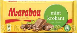 Швейцарский молочный шоколад с мятой Marabou Mint Krokant 200 г