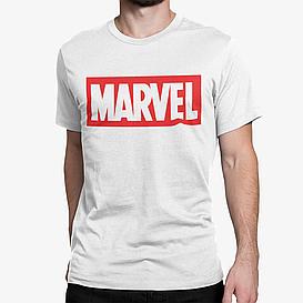 """Футболка белая мужская с принтом """"Marvel"""""""