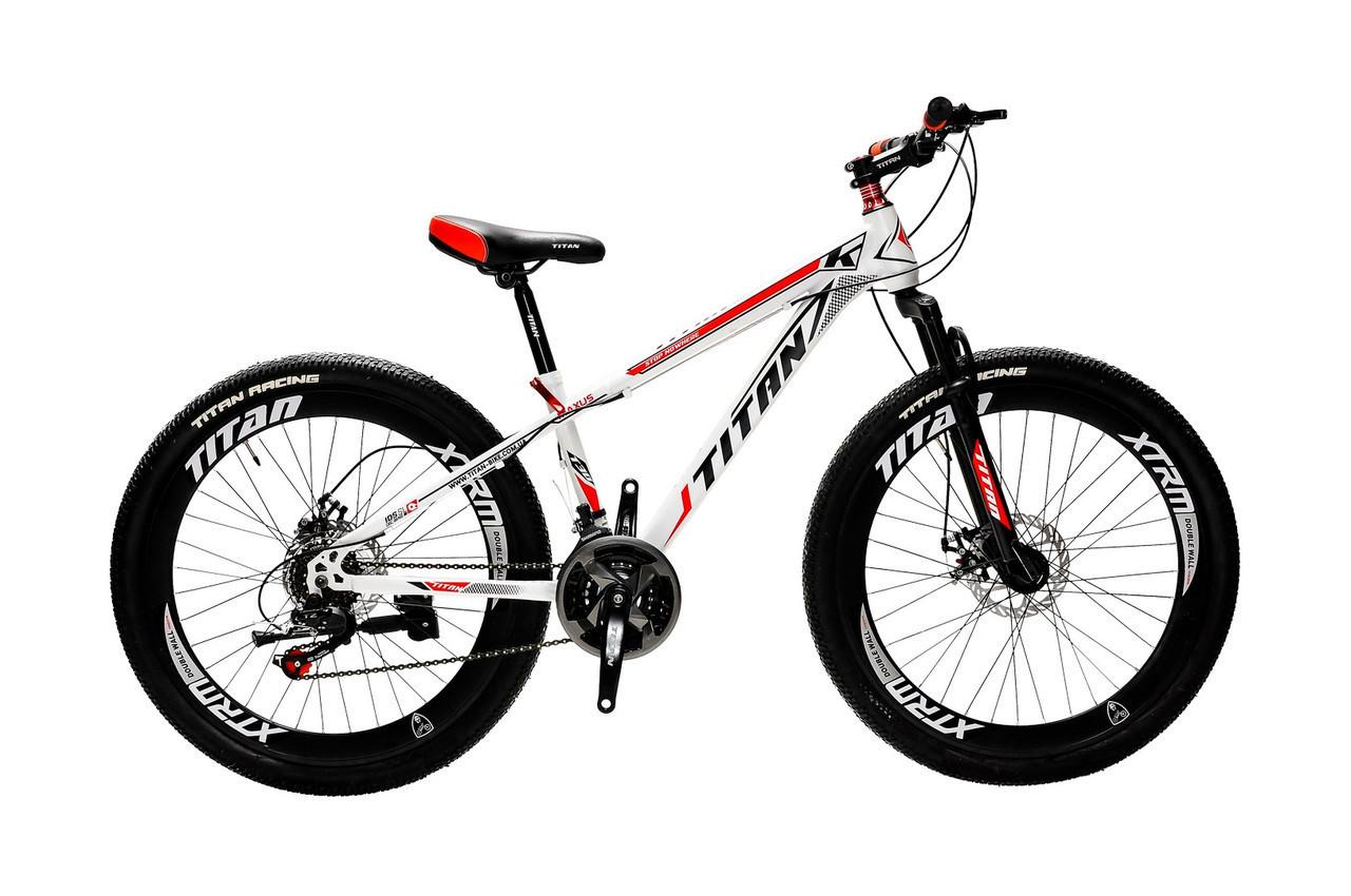 🚲Горный стальной дисковый велосипед TITAN MAXUS (21 speed, полуавтоматы); рама 12; колеса 24