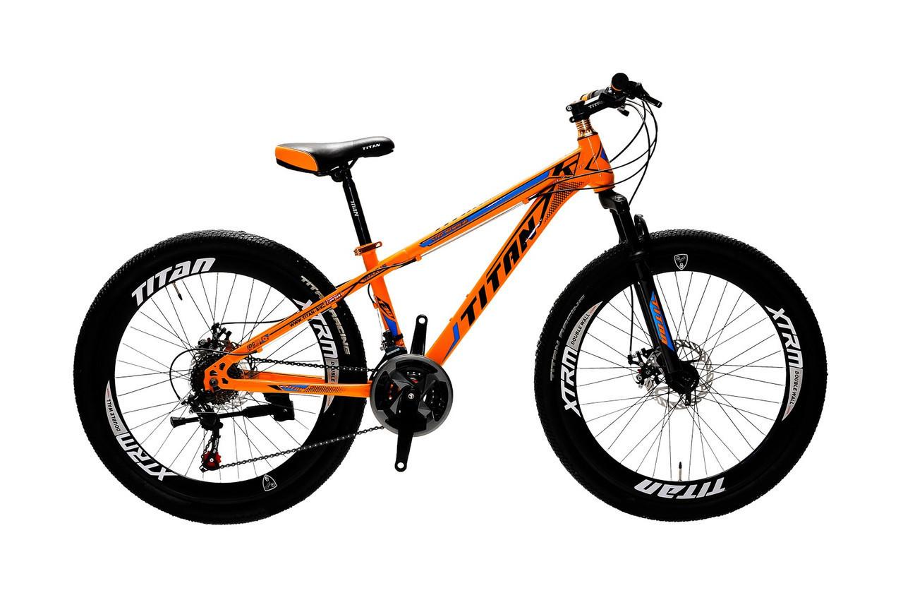 🚲Горный стальной дисковый велосипед TITAN MAXUS (21 speed, полуавтоматы); рама 13,5; колеса 26