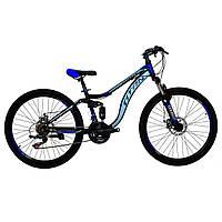🚲Горный стальной дисковый велосипед Titan PIONEER DD (Shimano, моноблок); рама 14; колеса 26, фото 1