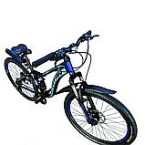 🚲Горный стальной дисковый велосипед Titan PIONEER DD (Shimano, моноблок); рама 14; колеса 26, фото 2