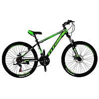 🚲Горный стальной дисковый велосипед TITAN SPIDER DD (Shimano, моноблок); рама 15; колеса 26, фото 1