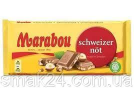 Швейцарский молочный шоколад с лесным орехом Marabou Schweizer Not 200 г