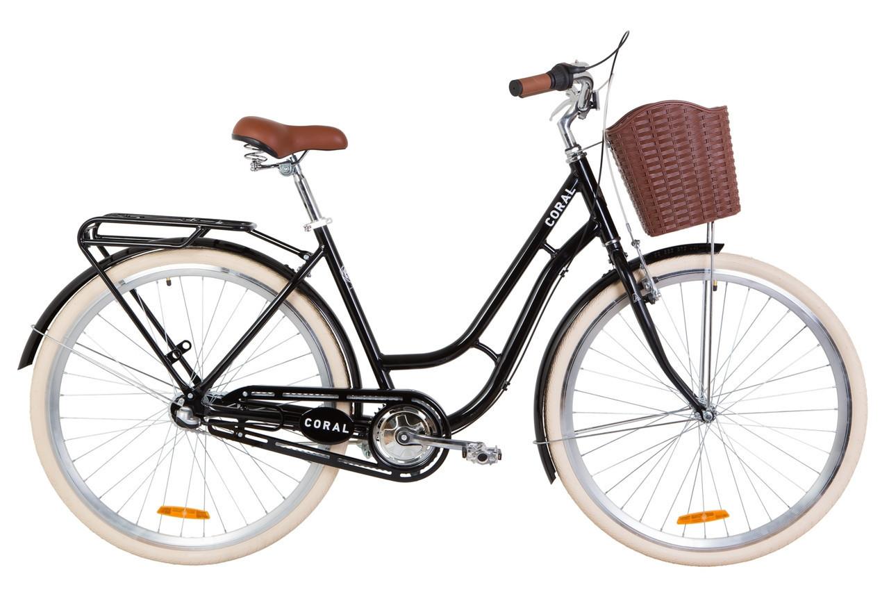 🚲Городской алюминиевый женский велосипед DOROZHNIK CORAL PH 2019 (планетарная втулка Shimano NEXUS 3 sp); рама 19; колеса 28