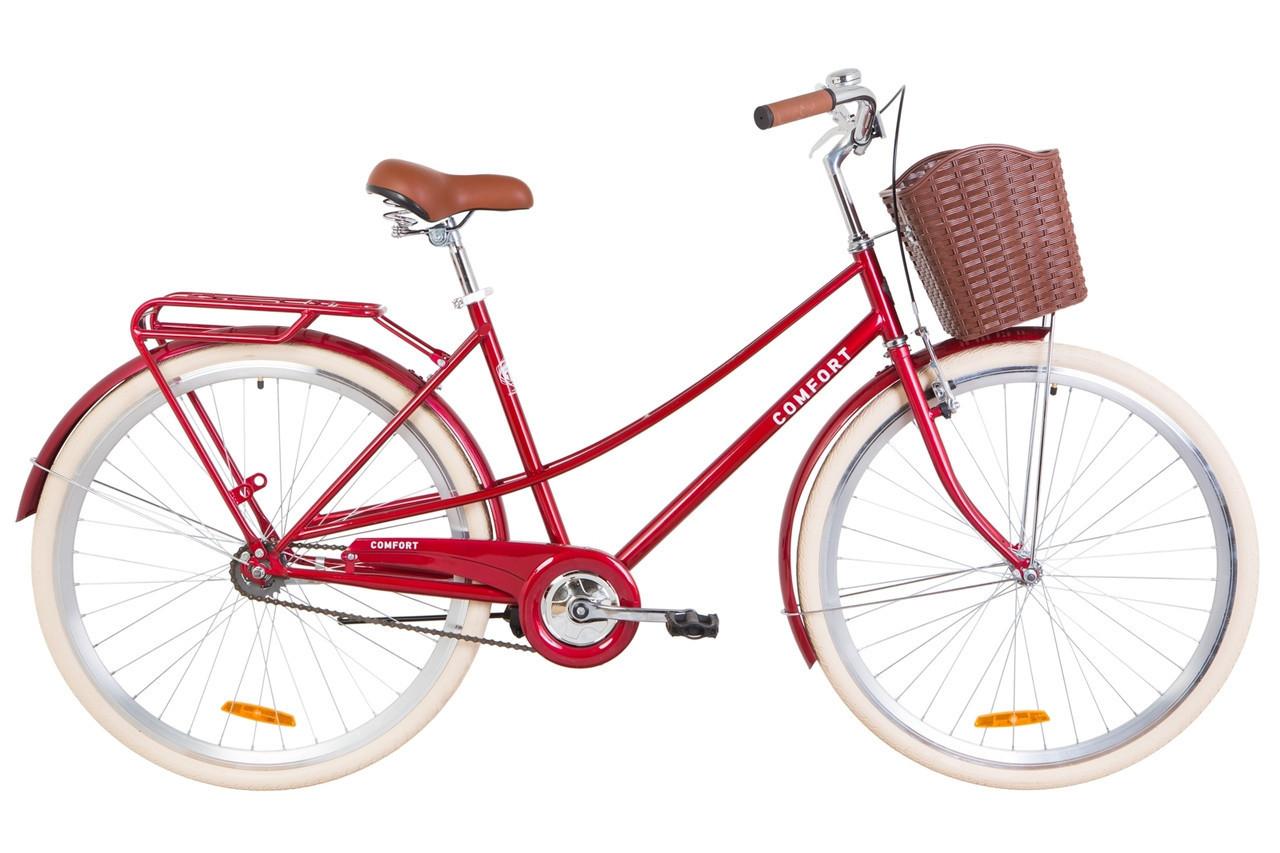 🚲Городской стальной женский велосипед Dorozhnik COMFORT FEMALE; рама 19; колеса 28