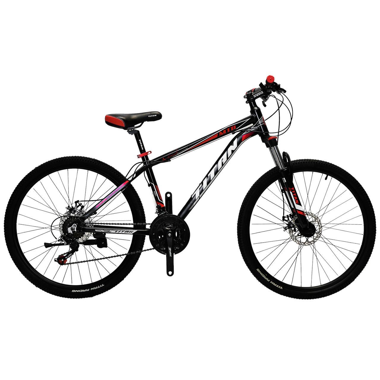 🚲Подростковый алюминиевый велосипед TITAN ATLANT DD; рама 12; колеса 24