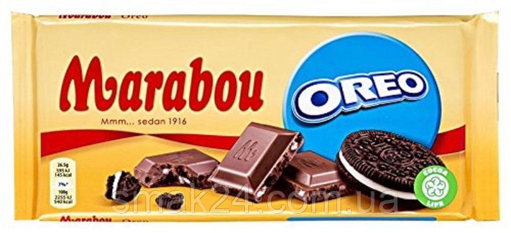 Швейцарский молочный шоколад с печеньем Оrео Marabou Oreo 185 г