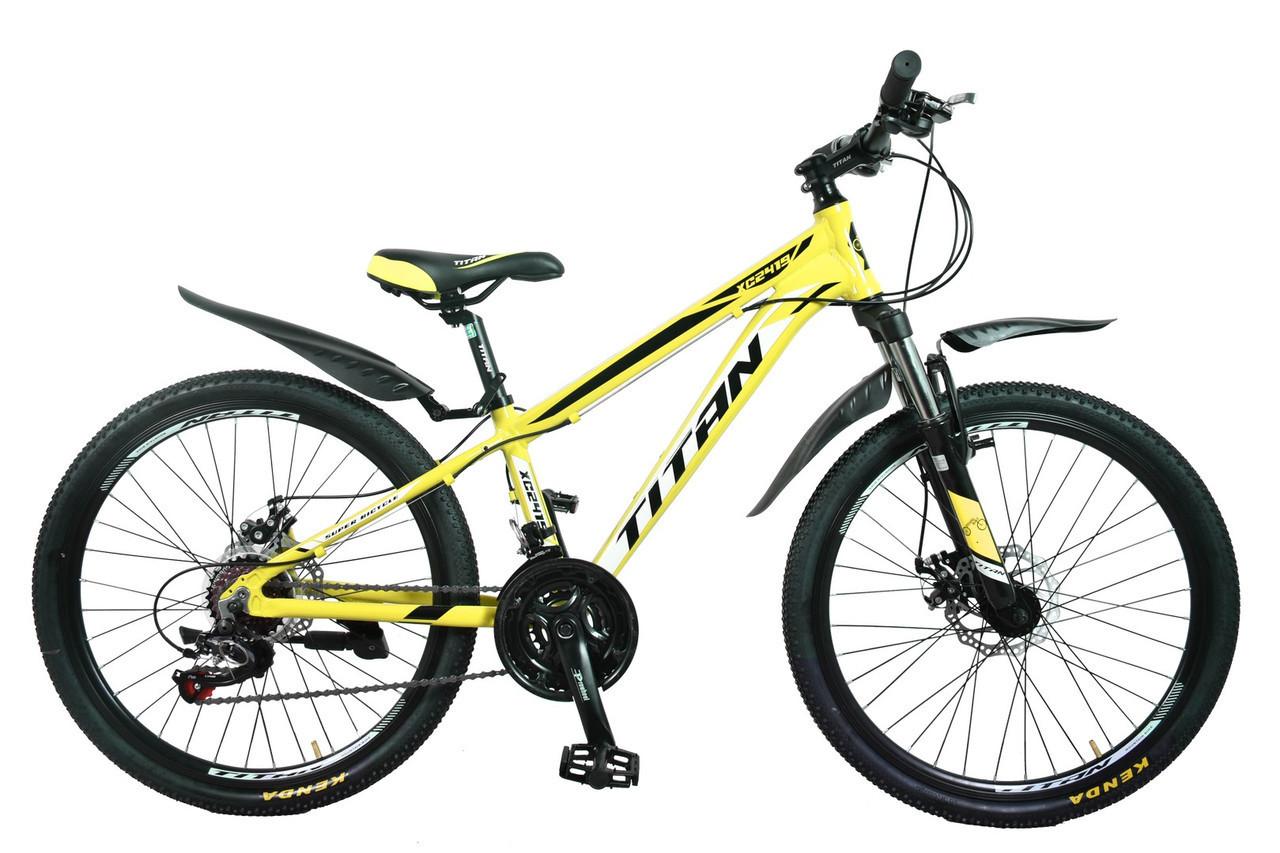 🚲Подростковый алюминиевый горный велосипед TITAN XC2419 (Shimano Altus,Lockout, моноблок); рама 12; колеса 24