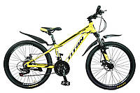 🚲Подростковый алюминиевый горный велосипед TITAN XC2419 (Shimano Altus,Lockout, моноблок); рама 12; колеса 24, фото 1