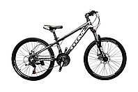 🚲Подростковый алюминиевый дисковый велосипед TITAN FLASH (Shimano, 21 speed, моноблок); рама 12; колеса 24, фото 1